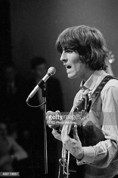 The Beatles at rehearsal for their final performance on THE ED SULLIVAN SHOW. Image dated August 14, 1965. Shown is George Harrison.