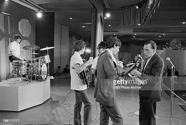 The Beatles at rehearsal in the Deauville Hotel Miami Beach Florida for THE ED SULLIVAN SHOW Ringo Star George Harrison John Lennon Paul McCartney...
