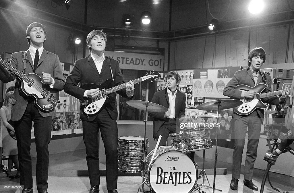 The Beatles At Television House Kingsway For An Appearance On Show
