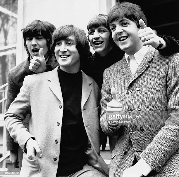 The Beatles at The London Palladuim Photo shows L to R George Harrison John Lennon Ringo Starr Paul McCartney