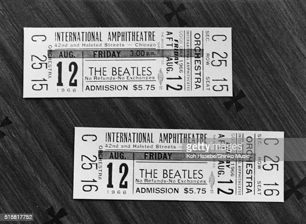 The Beatles concert tickets for Chicago International Amphitheatre August 12 1966