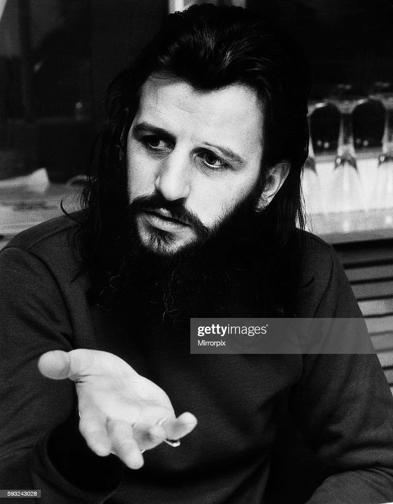 The Beatles Drummer Ringo Starr At His Office In Apple Corperation March 1972