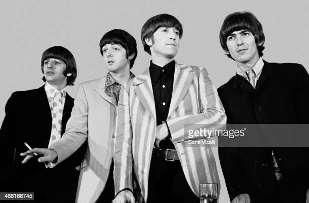 The Beatles during a press conference on August 6 1966 in New York New York