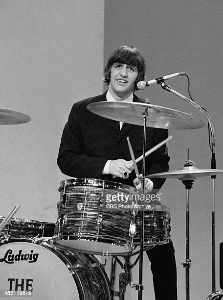 The Beatles during their final performance on THE ED SULLIVAN SHOW. Image dated August 14, 1965. Shown is Ringo Starr.