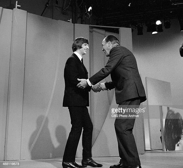 The Beatles final performance on THE ED SULLIVAN SHOW. Image dated August 14, 1965. Ed Sullivan is shown here with Ringo Starr.