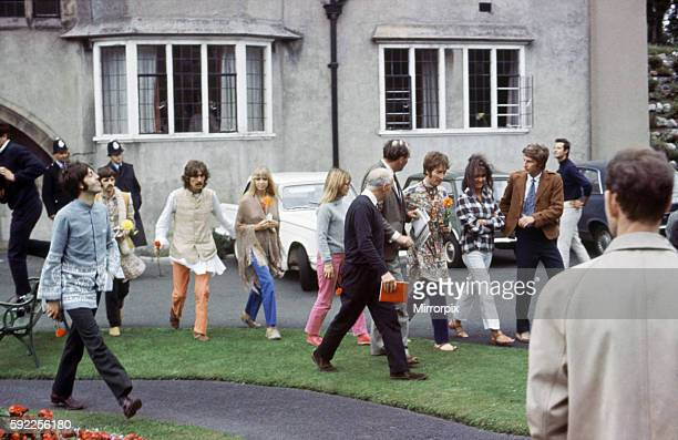 The Beatles in Bangor Wales 27th August 1967 Breaking News manager Brian Epstein has died The Beatles return from Bangor to London on same day