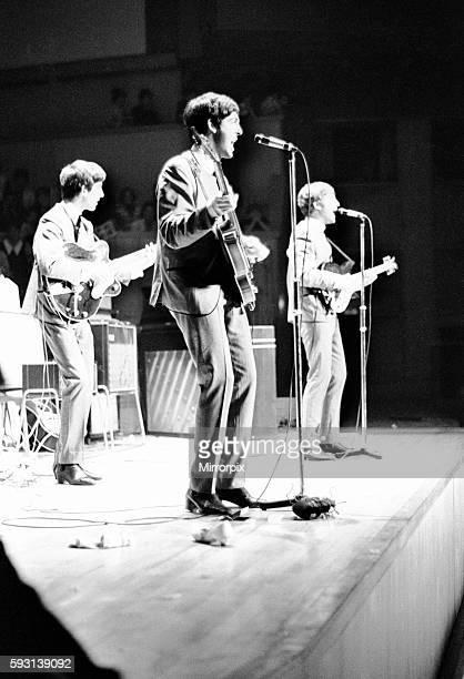 The Beatles in Concert at the Fairfield Halls Croydon Surrey Saturday 7th September 1963 George Harrison Paul McCartney John Lennon