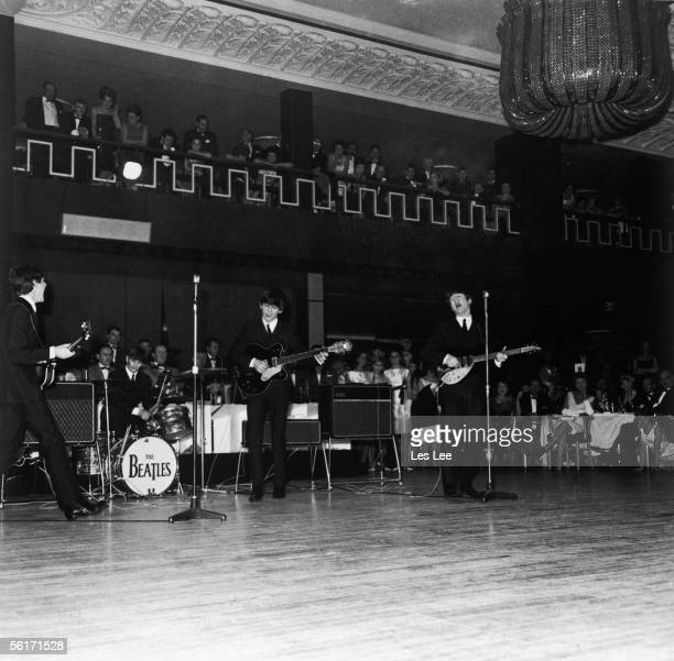 The Beatles in concert at the Grosvenor House Hotel London 3rd December 1963