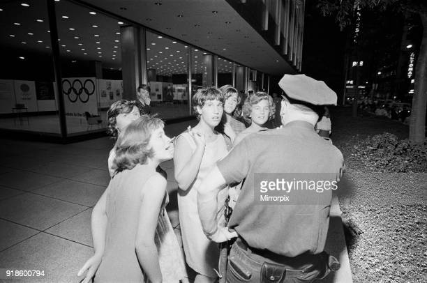 The Beatles in New York City on their North American Tour a head of their concert to be held at Forest Hills Fans going Wild for the Beatles 28th...