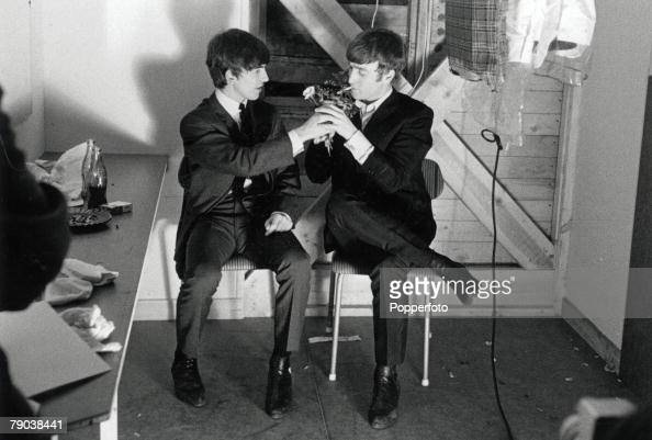 The Beatles in Stockholm, Sweden John Lennon has his ...  The Beatles in ...