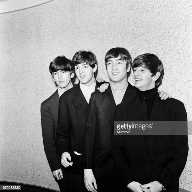 George Harrison Paul McCartney John Lennon and Ringo Starr at the ABC Cinema in Exeter 14 November 1963