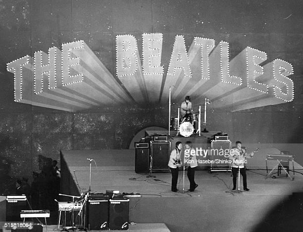 The Beatles live at Budokan Tokyo Japan July 2 1966 LR Paul McCartney George Harrison Ringo Starr John Lennon