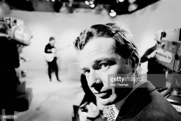 The Beatles manager Brian Epstein in a Granada Television studio in Manchester during a recording of Late Scene Extra 25th November 1963