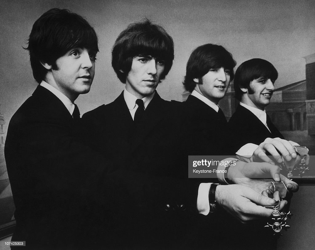 The Beatles Members Of The Order Of The British Empire On 1968 : News Photo