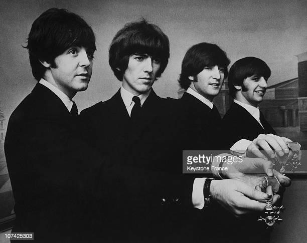 The Beatles Members Of The Order Of The British Empire On 1968