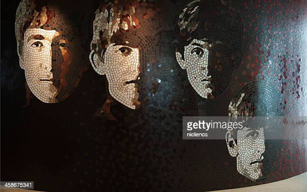 the beatles mosaico parete - the beatles foto e immagini stock