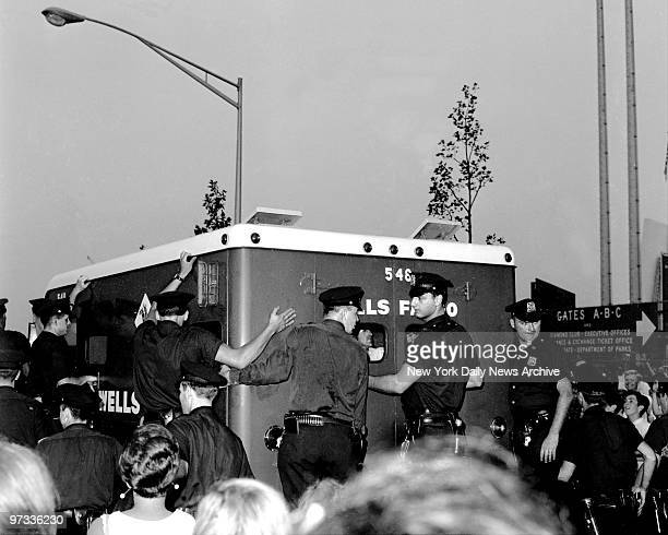 The Beatles needed an Wells Fargo armored car to get them to Shea Stadium safely for concert.