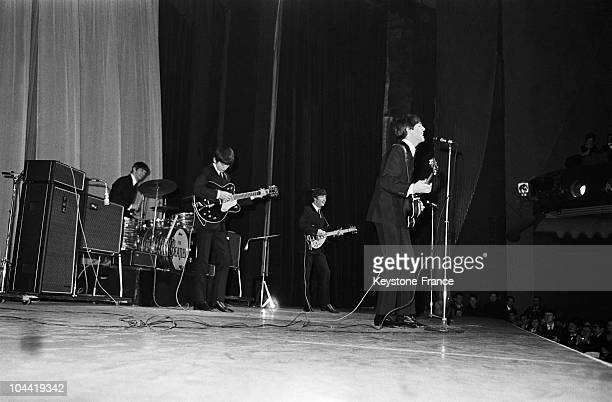 The Beatles On Stage At The Olympia In Paris The 17Th January 1964