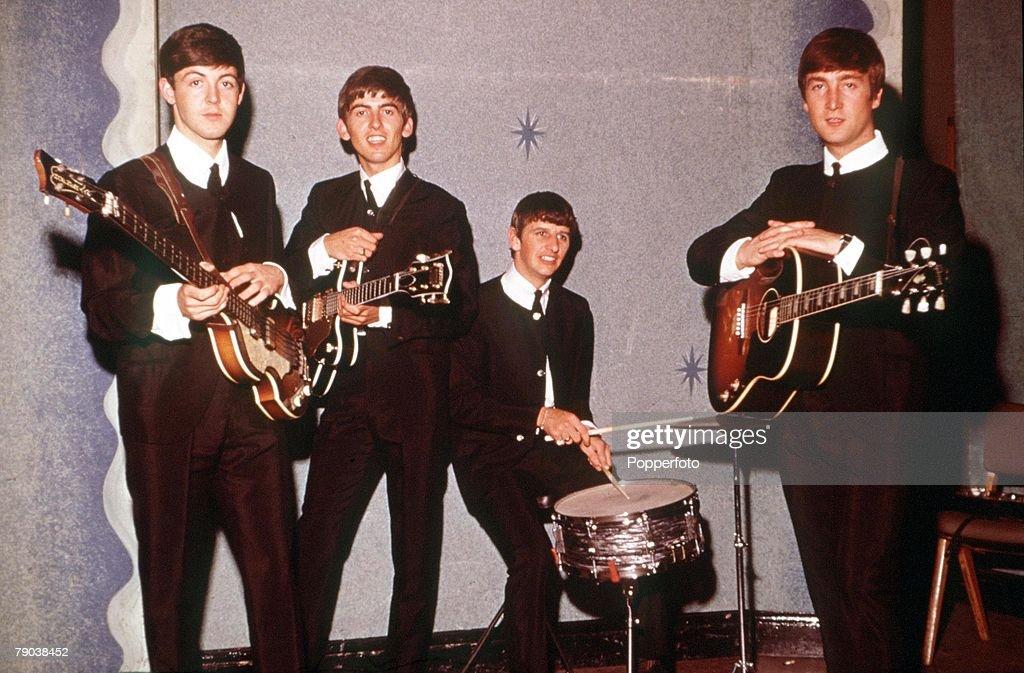 1963 The Beatles Paul McCartney George Harrison Ringo Starr And John Lennon