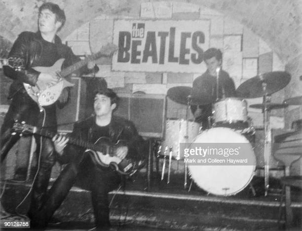 The Beatles perform in Liverpool's Cavern Club with Pete Best on drums 1962 Best was fired from the group that same year and replaced with Ringo Starr