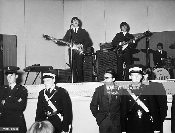 The Beatles Performing On Stage At De Montford Hall In Leicester 11th October 1964