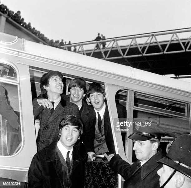 The Beatles return to England after their first American tour Heathrow Airport London Picture taken 21st February 1964 3620 fans crowd the Queen's...