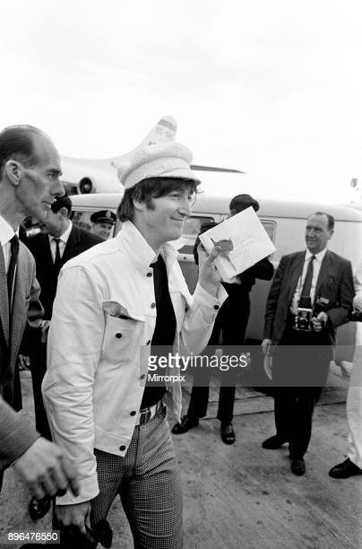 The Beatles return to England from Spain London Heathrow Airport Sunday 4th July 1965