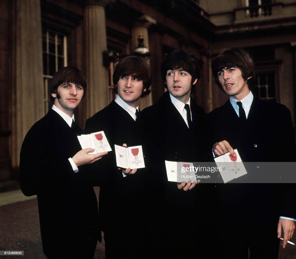 The Beatles L To R Ringo Starr John Lennon Paul McCartney