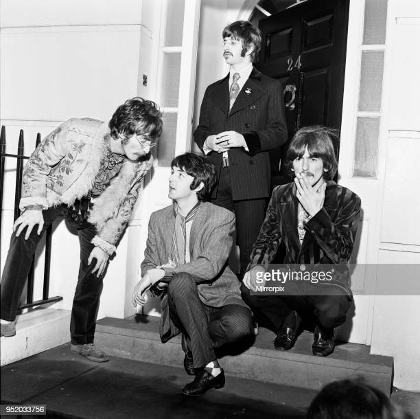 The Beatles seen here at a press photocall for their Sergeant Peppers Lonely Hearts Club LP The Beatles hit out at the BBC after the Corporation ban...