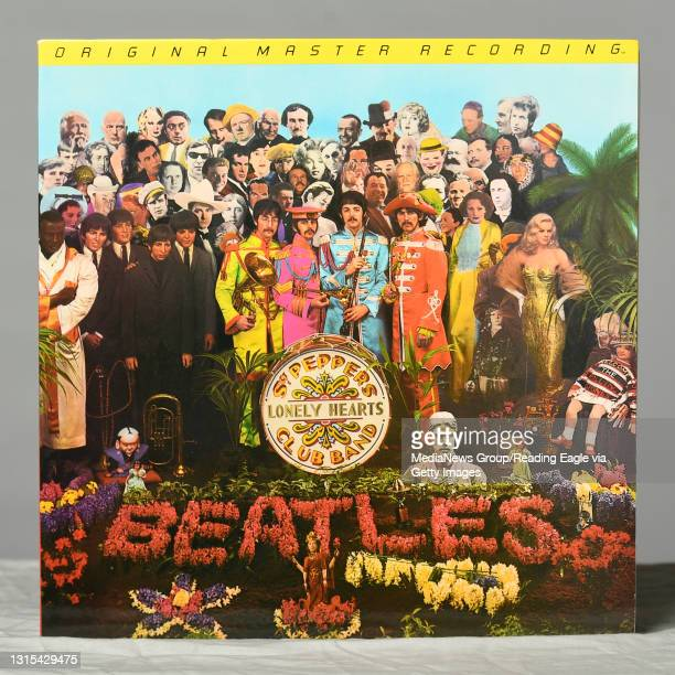 """The Beatles """"Sgt. Peppers Lonely Hearts Club Band"""", considered an essential album, in the Reading Eagle studio on Tuesday, April 10, 2018. Photo by..."""
