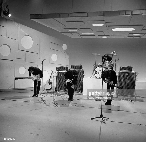 The Beatles third appearance on The Ed Sullivan Show. Image dated August 14, 1965. From left: Paul McCartney, John Lennon, Ringo Starr and George...