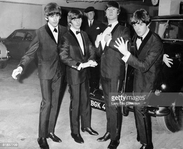The Beatles together in an underground car park before the premiere of their film 'A Hard Day's Night' at the London Pavilion 7th July 1964 The band...