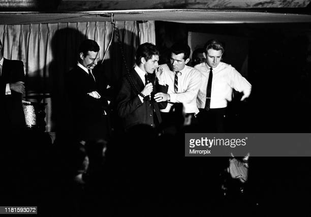 The Beatles tour of The United States and Canada in the Summer 1964 Derek Taylor and Brian Epstein in Los Angeles ahead of the band's performance at...