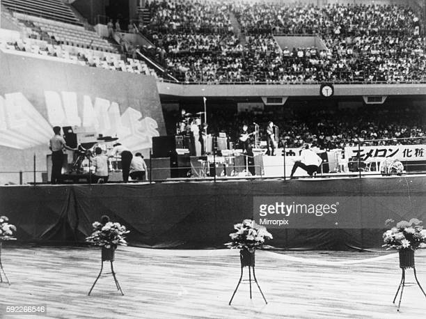 The Beatles World Tour 1966 2nd concert at the Budokan Hall Tokyo 1st July 1966 Camera crew set up equipment Evaluation Scan Only If you require a...