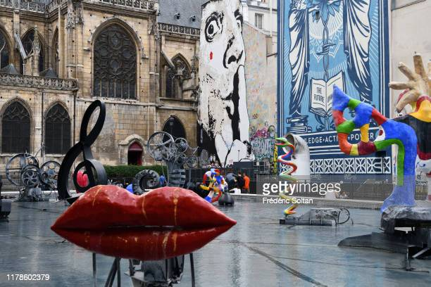 September 15 : The Beaubourg area in Paris. The Stravinsky Fountain , created by sculptors Jean Tinguely and Niki de Saint Phalle, near the Centre...