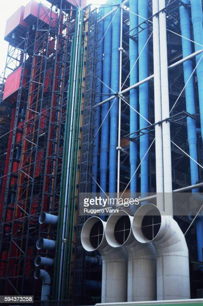 The Beaubourg in Paris: Service Facade