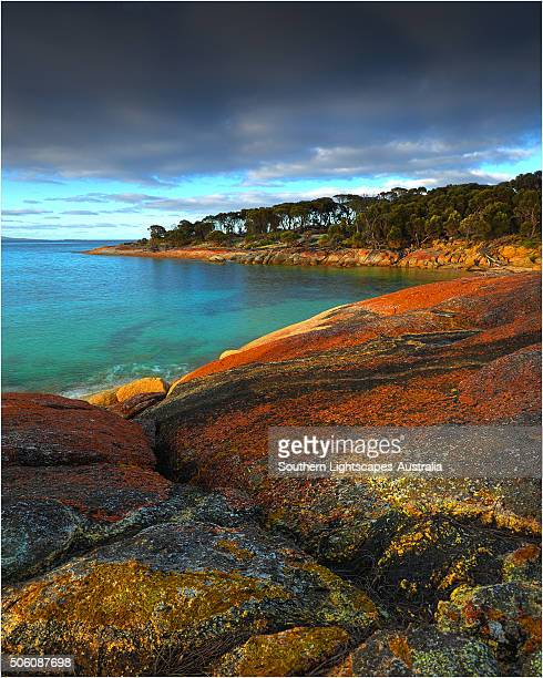 the beautiful and very scenic area known as trouser's point, near lacotta, flinders island, part of the furneaux group, eastern bass strait, tasmania. - cotes d'armor stock photos and pictures