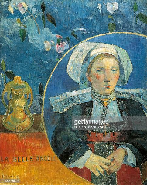 The beautiful Angele Satre the innkeeper at PontAven by Paul Gauguin Paris Musée D'Orsay