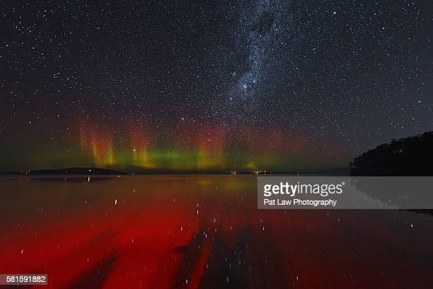 the beautiful aurora - aurora australis stock pictures, royalty-free photos & images