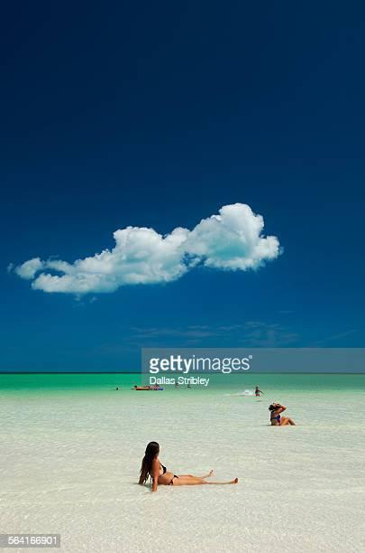 The beautiful beach on Holbox Island, Mexico