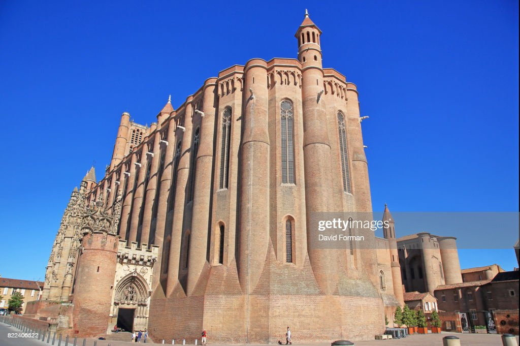 The beautiful brickbuilt Catholic Albi Cathedral (1480). : Stock Photo