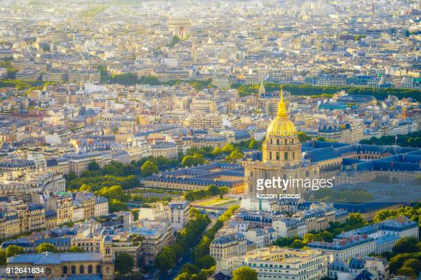the beautiful city of paris . les invalides building in day - les invalides quarter stock photos and pictures