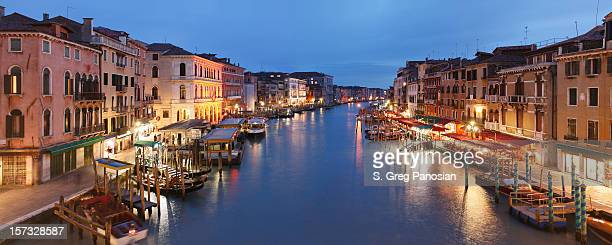 The beautiful city of Venice at night