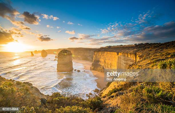 The beautiful landscape of Twelve Apostles during the sunset.