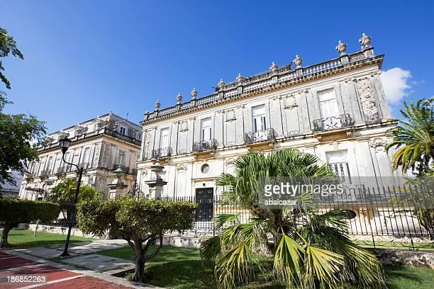 the beautiful merida paseo montejo - yucatan stock pictures, royalty-free photos & images