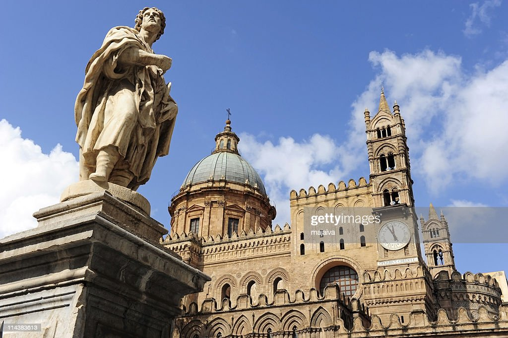 The beautiful Palermo cathedral : Stock Photo