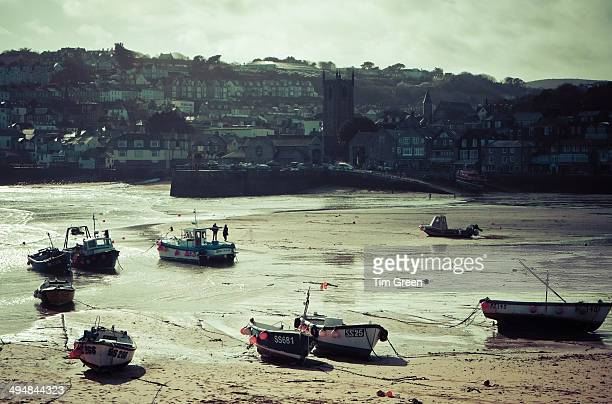 CONTENT] The beautiful picturesque harbour of St Ives in Cornwall UK