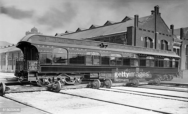The beautiful private car Alexander was built in 1890 by the Pullmann PalaceCar Building Co at Pullman Ill for AAMcLeod President of the Philadelphia...