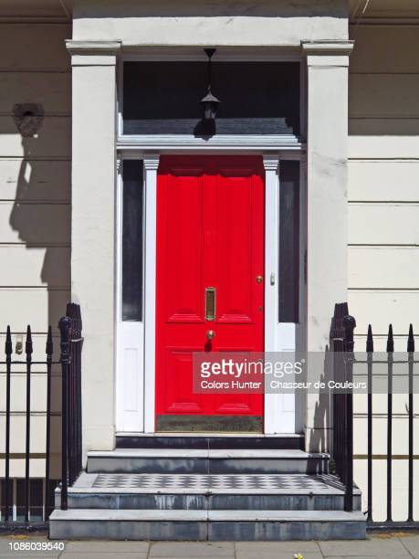 the beautiful red door in london - premium access stock pictures, royalty-free photos & images