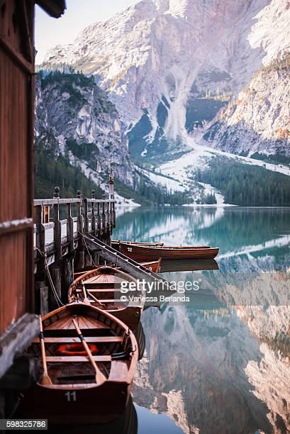 The beautiful reflections of Lake Braies